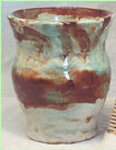 studio pottery vase signed AFB