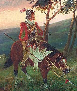 Edgar Bundy Oil on Canvas, detail photo