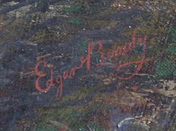 Edgar Bundy Oil on Canvas, signature