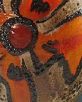 Carstens Vase Shape 7312, glaze detail, West German                 pottery