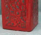 Carstens vase M-12, Manila decor detail photo, West                 German pottery
