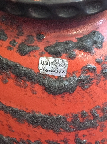 Carstens 7322, retailer label, West German pottery