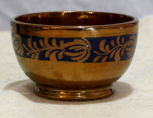 Copper luster bowl