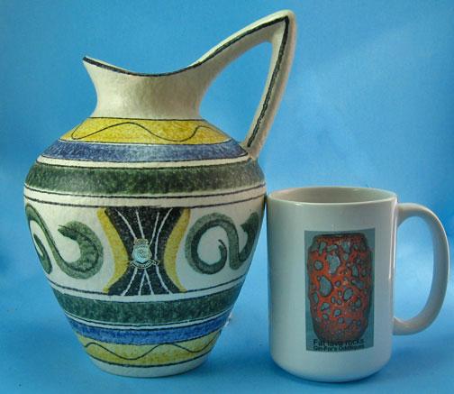 Eiwa Klinker Vase with Oslo Decoration