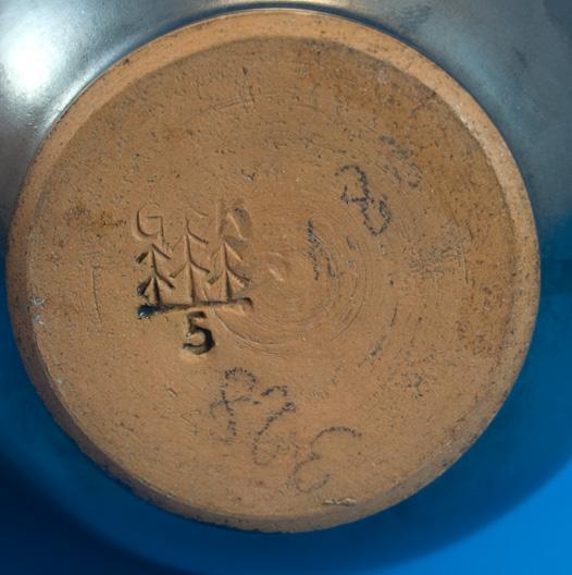Graflich Vase with Volcanic Glaze, mark photo