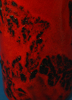 Graflich West German pottery vase,  glaze detail