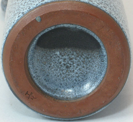 Gramann Töpferei Römhild Bottle Vase with Volcanic Glaze, mark photo
