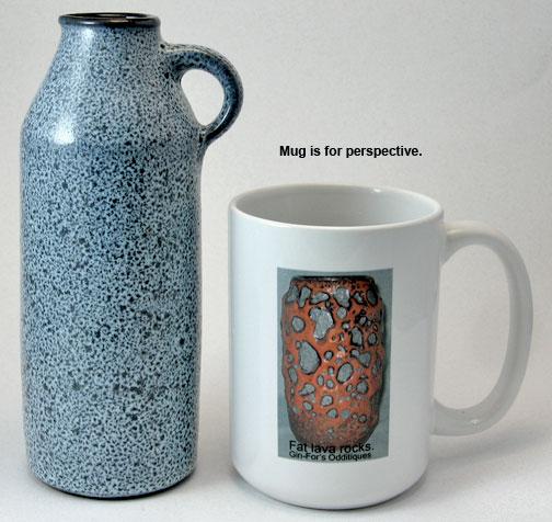Gramann Töpferei Römhild Bottle Vase with Volcanic Glaze