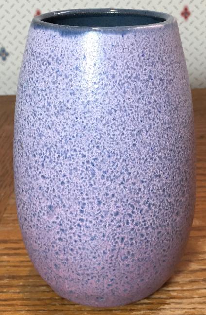 Gramann Töpferei Römhild Vase with Mauve to Purple Volcanic Glaze