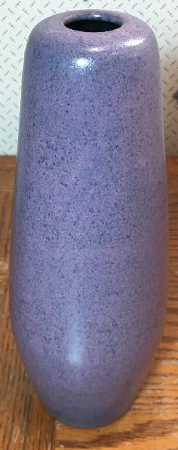 Töpferei Römhild Vase with Purple Volcanic Glaze