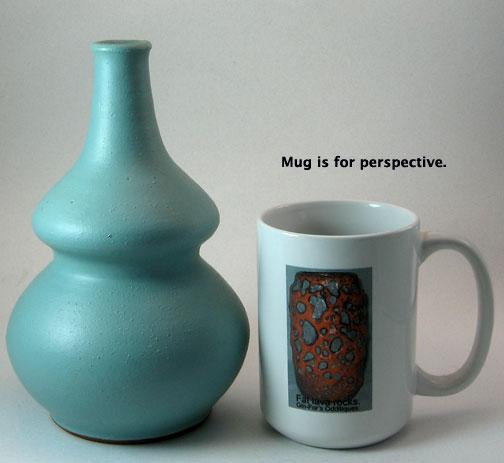 Gramann Töpferei Römhild Vase with Mint Green Glaze