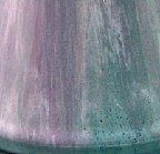 Jean Massier vase, glaze detail