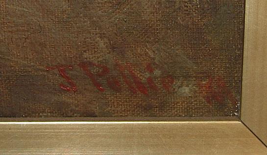 John Pettie Oil on Canvas showing smoking Cavalier, signature