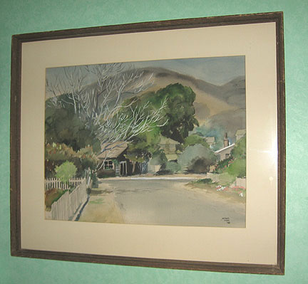 Watercolor signed Michel Kady
