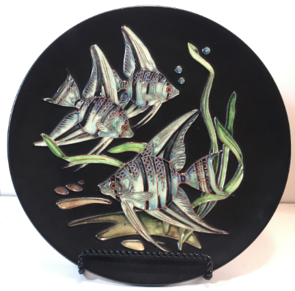 Karlsruhe Hanging Plate with Fish Decor