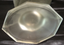Libochovice glass vase, bottom photo