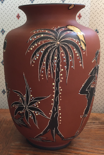 Marzi & Remy Vase with Poesie Decor