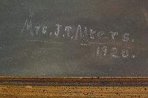 Pastel signed J. T. Meyers, signature photo