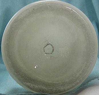 Opaline Glass Vase, bottom photo