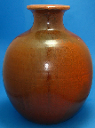 Studio pottery Vase, orange glaze