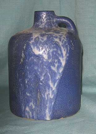 Otto Keramik Squat Jug, Blue and White Glaze