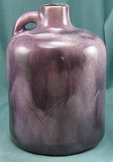 Otto Keramik Squat Jug, Pink and Gray Glaze