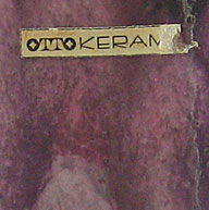 Otto Keramik Squat Jug, Pink and Gray Glaze, detail photo