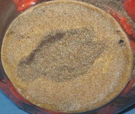 Otto Keramik Small Vase, Red and Black Glaze, bottom photo
