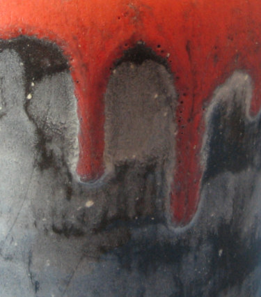 Otto Keramik Squat Jug, Granit Glaze, detail photo