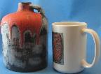 Otto Keramik jug, Granit glaze