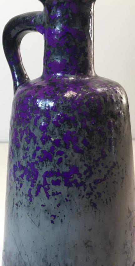 Otto Keramik Tall Jug, Purple Glaze, glaze detail