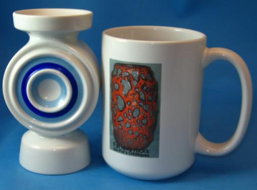 Plankenhammer German Porcelain Bullseye Vase
