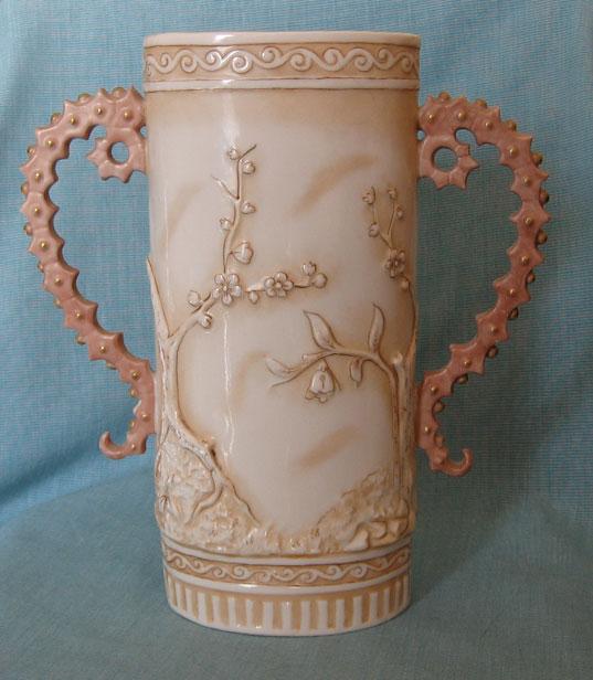 Royal Rudolstadt, Lazarus Straus vase, back photo