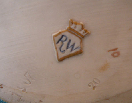 Royal Rudolstadt, Lazarus Straus vase, mark photo