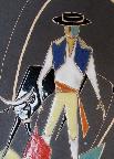 Ruscha plate with Torero Decor, detail