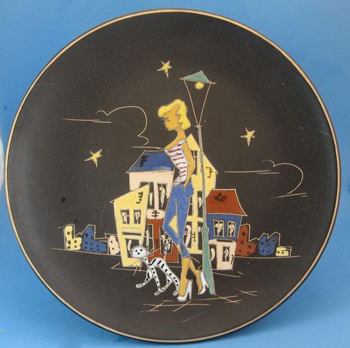 Ruscha plate with Paris decor