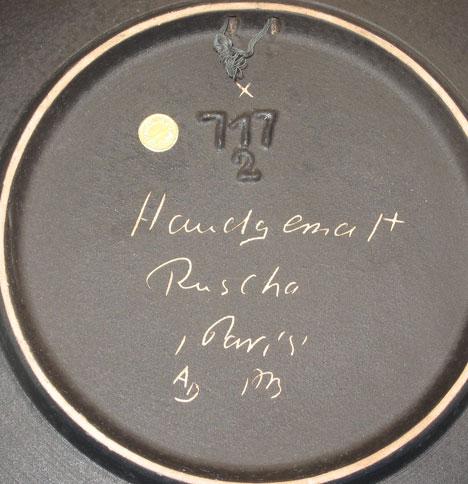 Ruscha plate with Paris decor, mark photo
