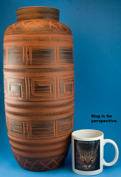 Sawa Klinker Floor Vase Shape 160
