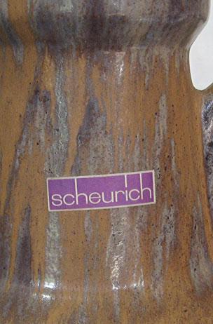 Scheurich Keramik Floor Vase Shape 481, detail photo