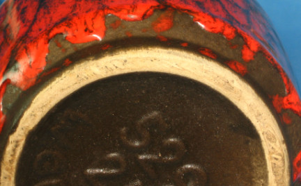 Scheurich Keramik Vase Shape 529, detail photo