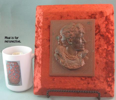 Bronze plaque with Ellen Terry