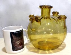 Amber Glass soffiato vase