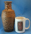 Steuler Vase 135, volcanic glaze