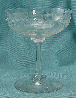 Monongah Glass Champagnes with Needle