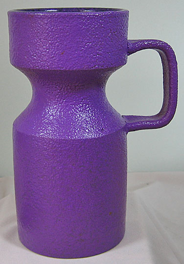Purple Studio Pottery Vase, curdled glaze