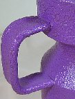 Purple studio pottery, detail photo