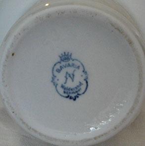 Waldershof Porcelain Vase, mark photo